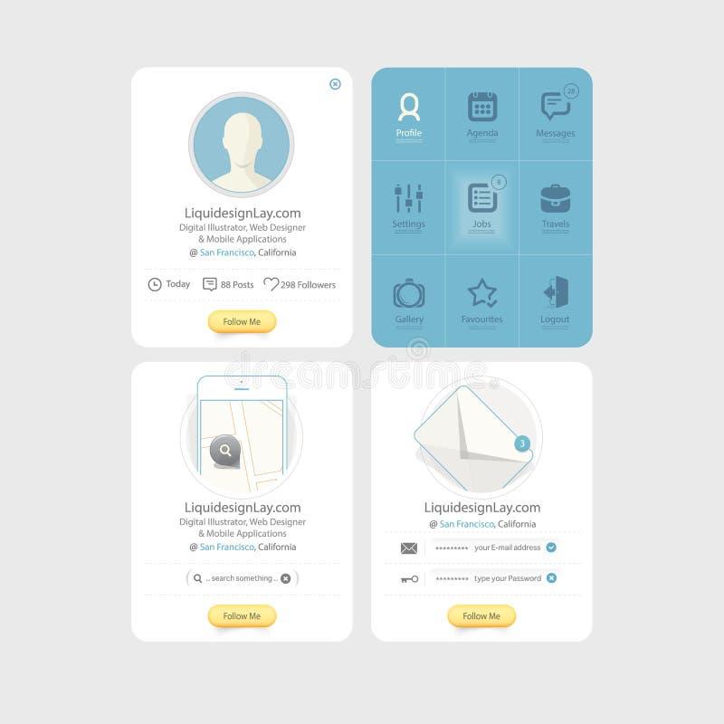 Elementos do projeto UI de Infographics: Coleção do colo ilustração royalty free