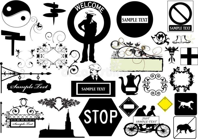 Elementos do projeto - vetor ilustração stock