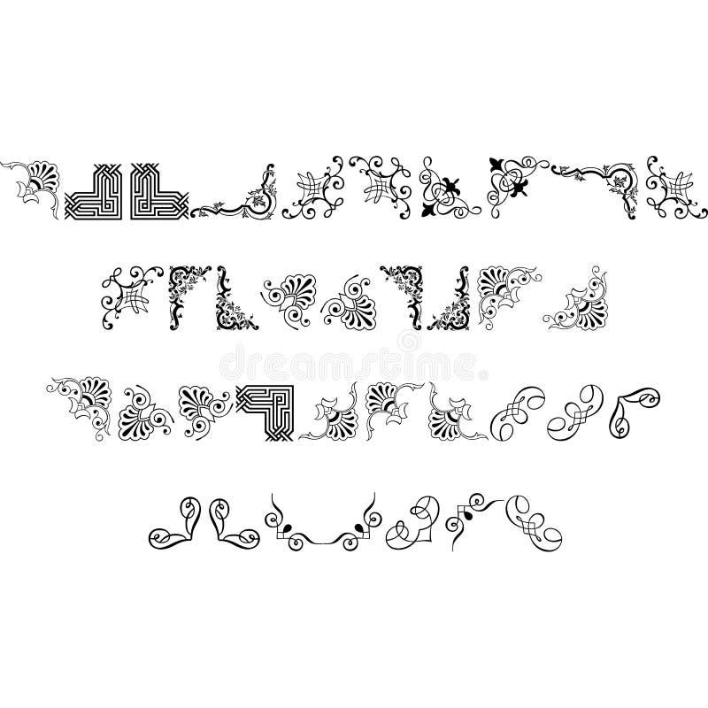 Elementos do projeto do vetor para todo o desenhista ilustração stock
