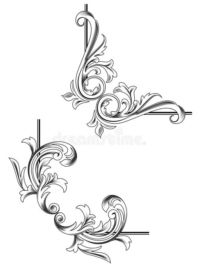 Elementos do redemoinho ilustração royalty free
