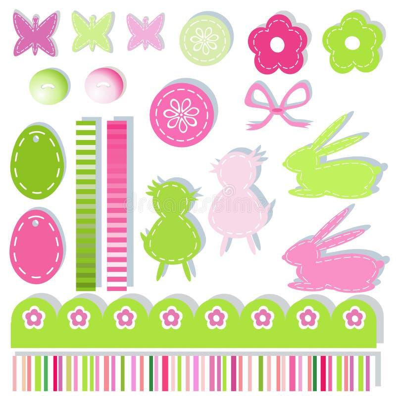 Elementos do scrapbook de Easter ilustração stock