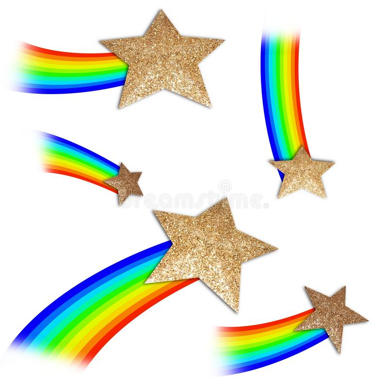 Elementos do Shooting Stars ilustração do vetor