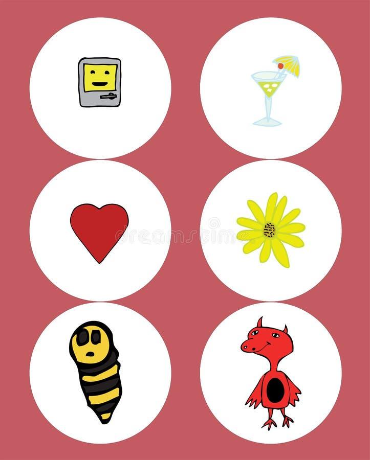 Elementos do Valentim ilustração stock