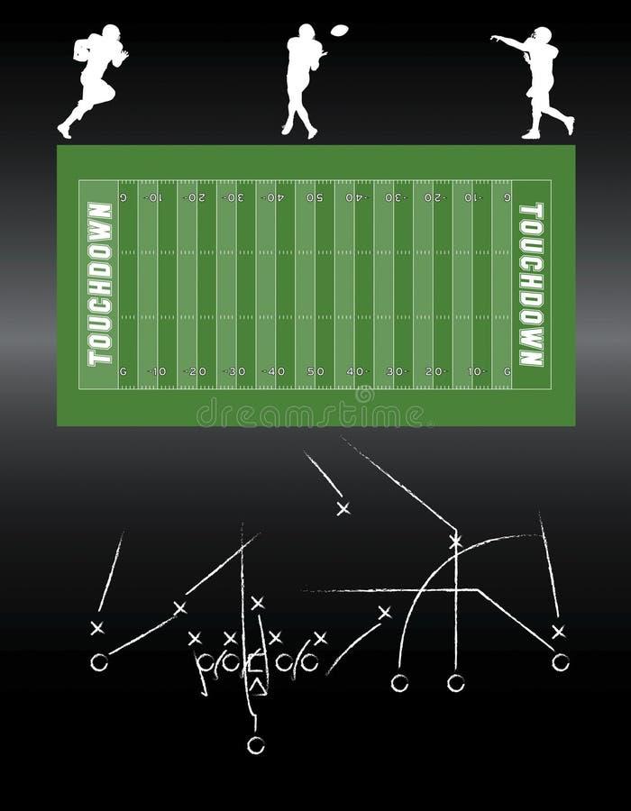 Elementos do vetor do futebol ilustração do vetor