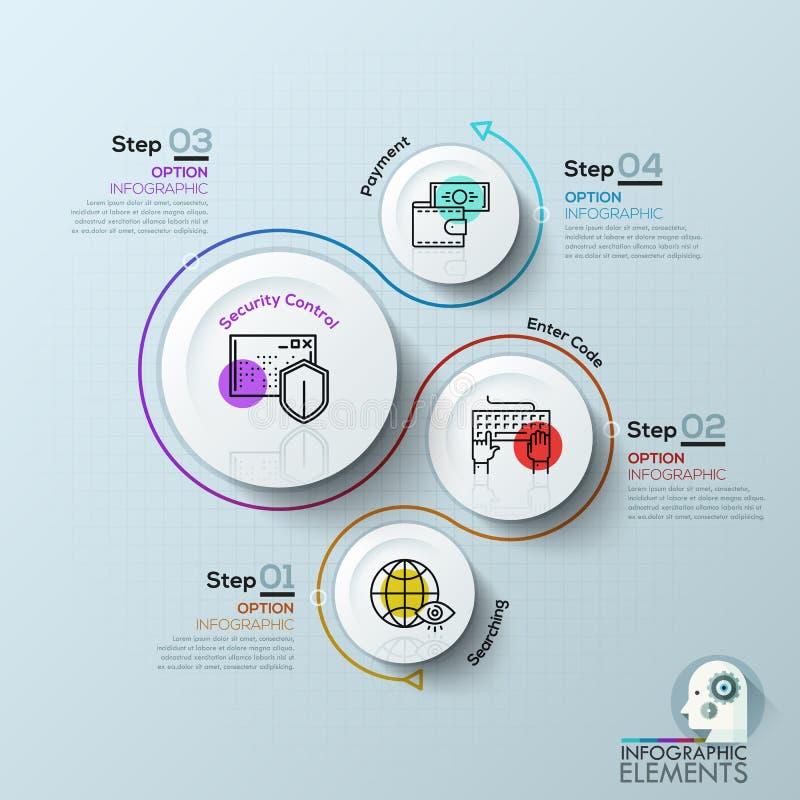 Elementos do vetor para infographic ilustração royalty free