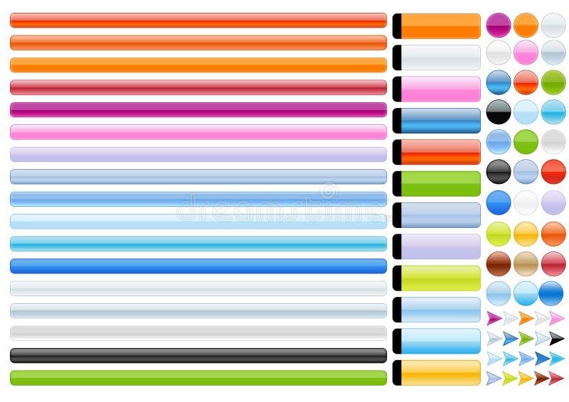 Elementos do Web ilustração do vetor