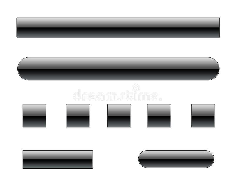 Elementos do Web do estilo de Vista [01] ilustração do vetor