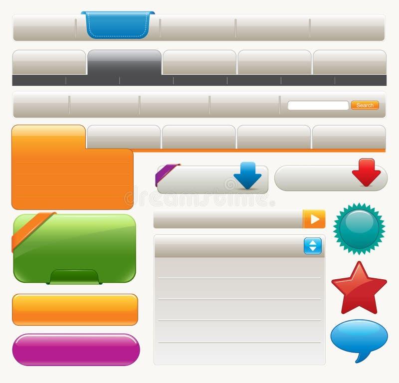 Elementos do Web site ilustração stock