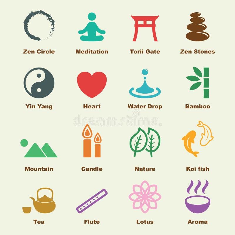 Elementos do zen ilustração royalty free