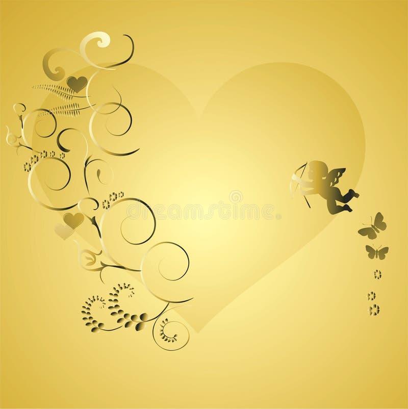 Elementos dos fundos do Valentim ilustração stock