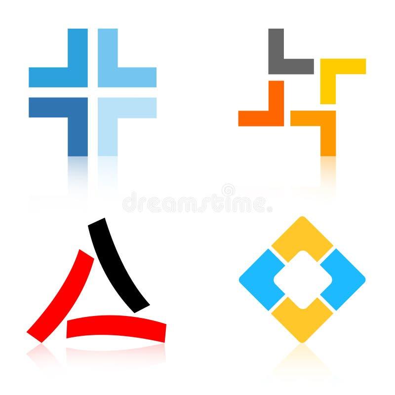 Elementos dos logotipos/logotipo da companhia ilustração stock