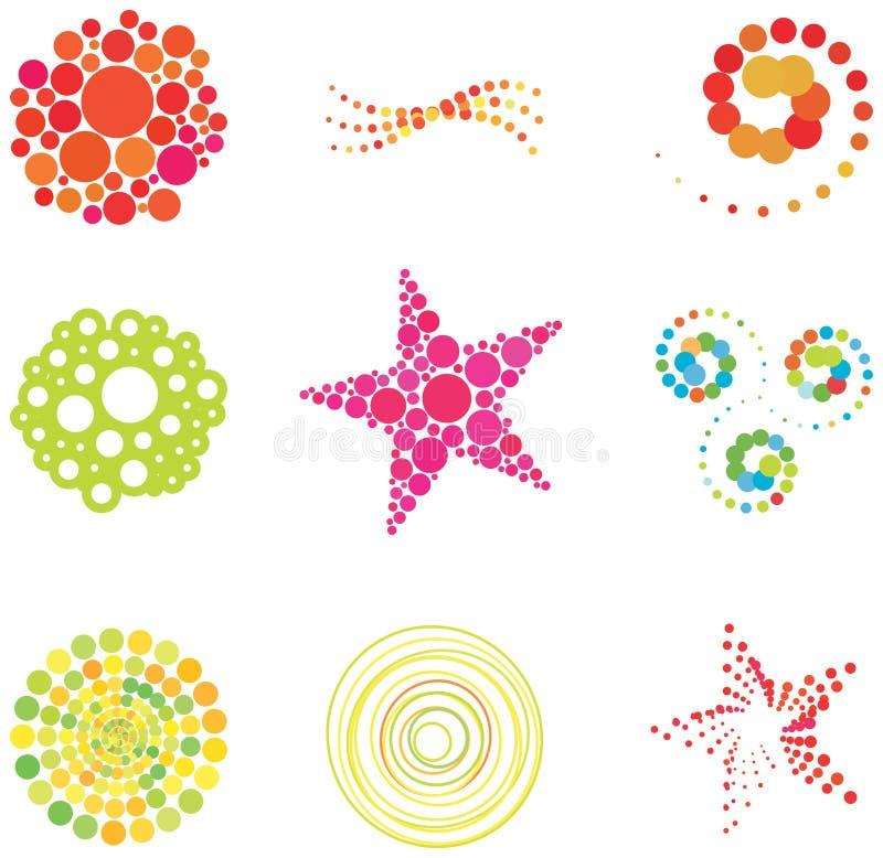 Elementos e logotipos do projeto do vetor ilustração royalty free