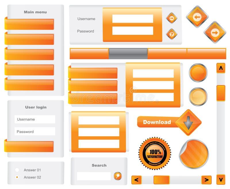 Elementos Editable do Web site ilustração royalty free