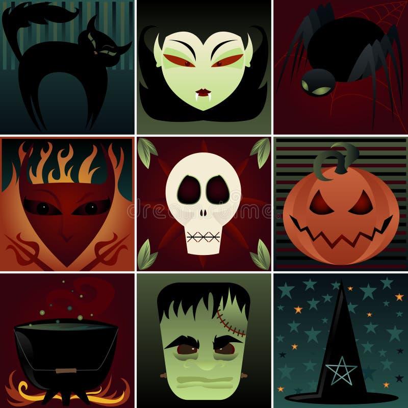 Elementos escuros ilustração royalty free