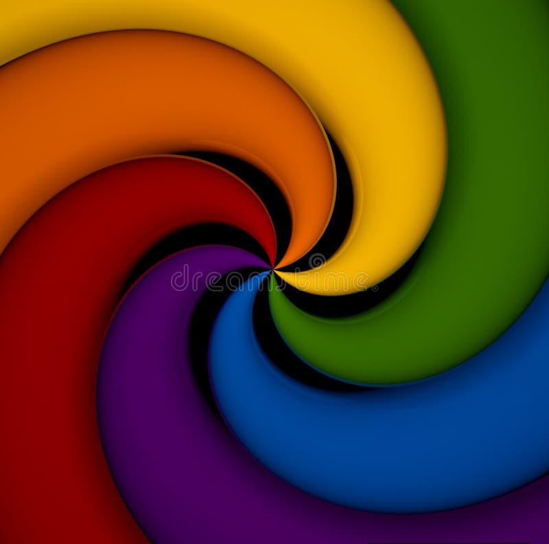 Elementos espirais de todas as cores do espectro. ilustração do vetor