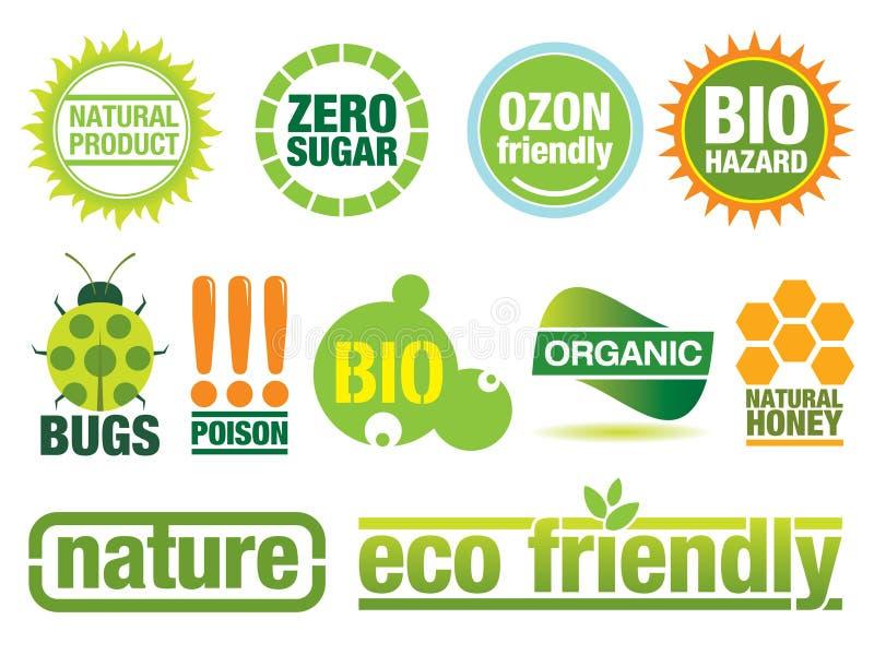Elementos a favor do meio ambiente do projeto ilustração do vetor