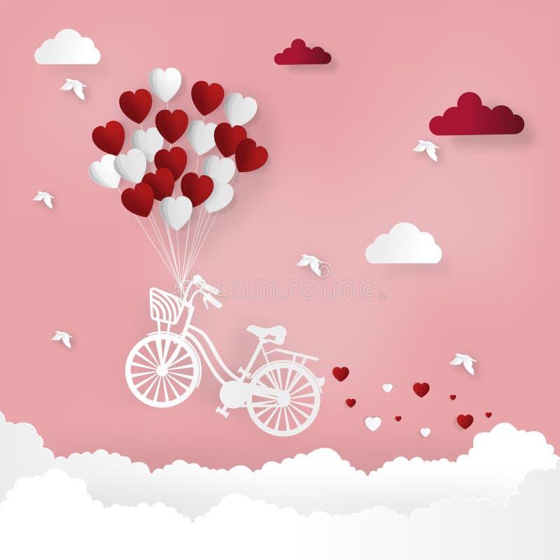 Elementos felices del día de tarjetas del día de San Valentín y del diseño del weeding Ilustración del vector Hinche la caída la  ilustración del vector