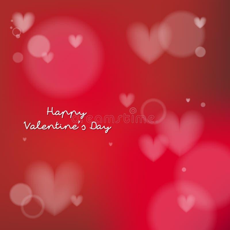 Elementos felices del diseño del día de tarjetas del día de San Valentín Ilustración del vector Fondo rojo con los ornamentos Sea ilustración del vector