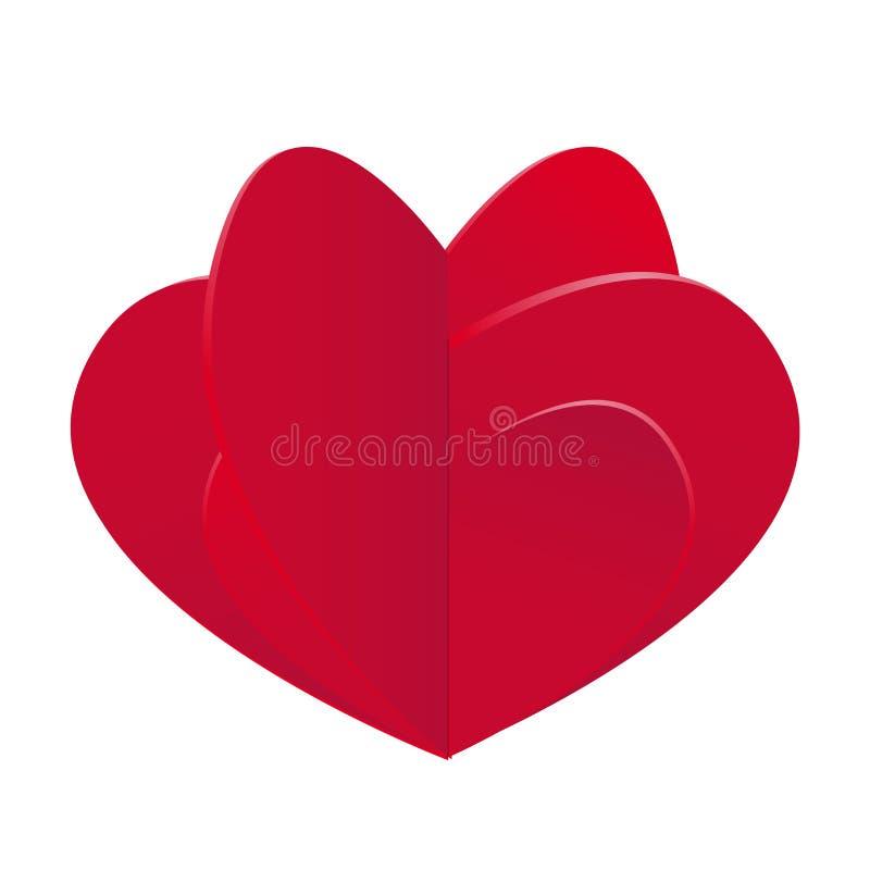 Elementos felizes românticos do dia de Valentim Composição dos corações para seu projeto Ilustração do vetor ilustração do vetor