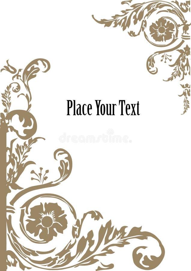 Elementos florais do frame ilustração do vetor