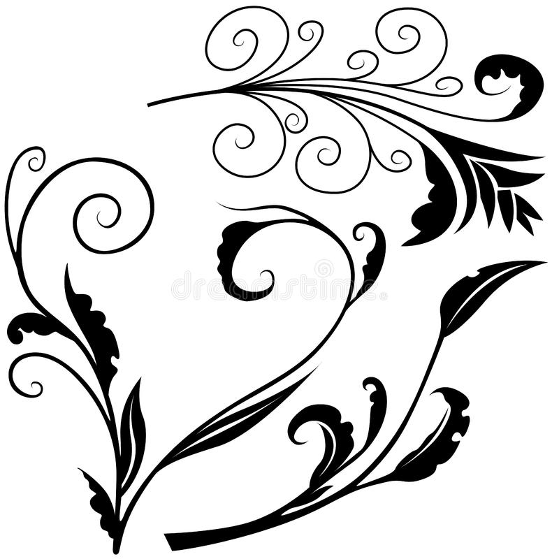 Elementos florais H imagem de stock royalty free