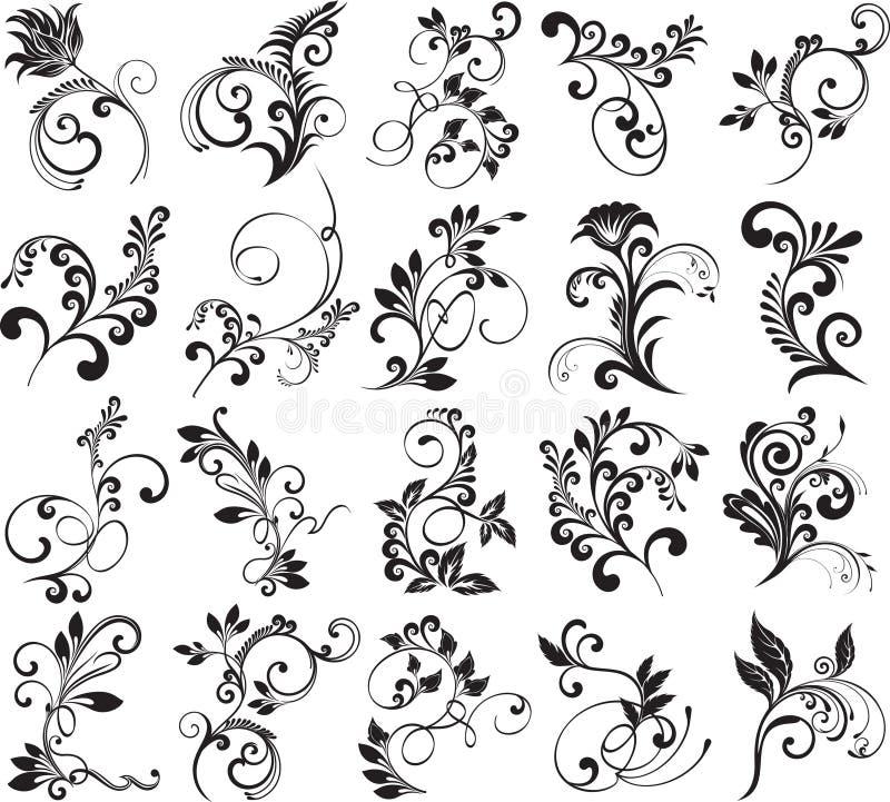 Elementos florais para o projeto ilustração royalty free