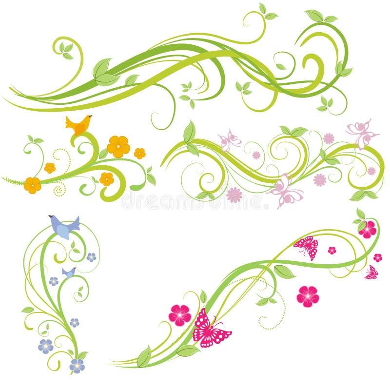 Elementos florales fotos de archivo
