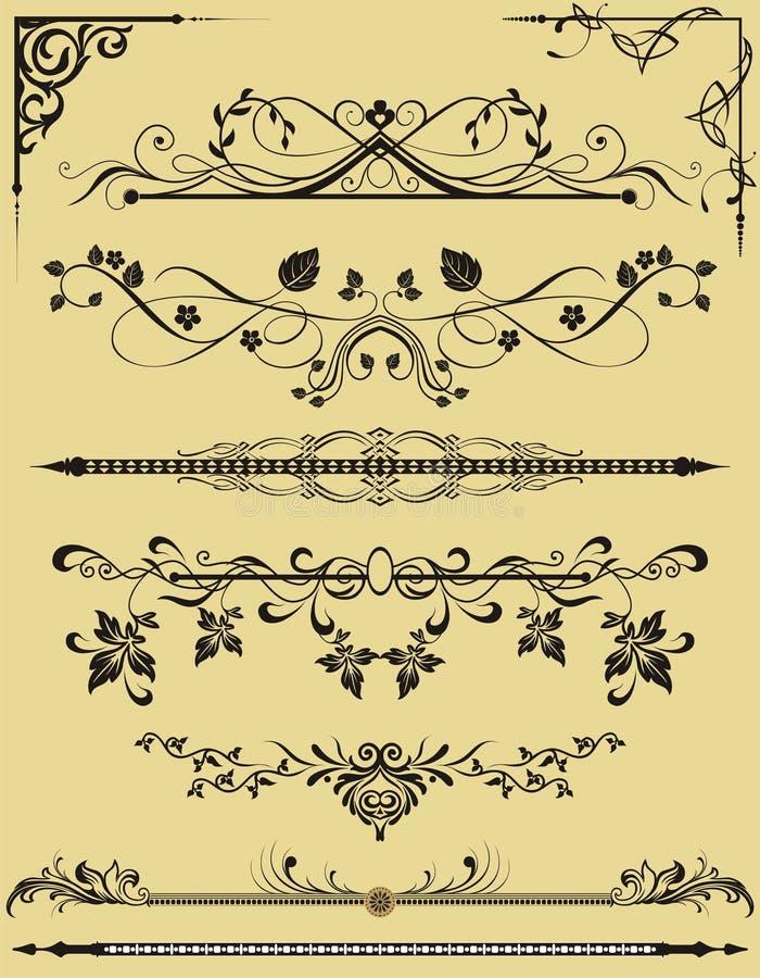 Elementos florales para el fondo ilustración del vector