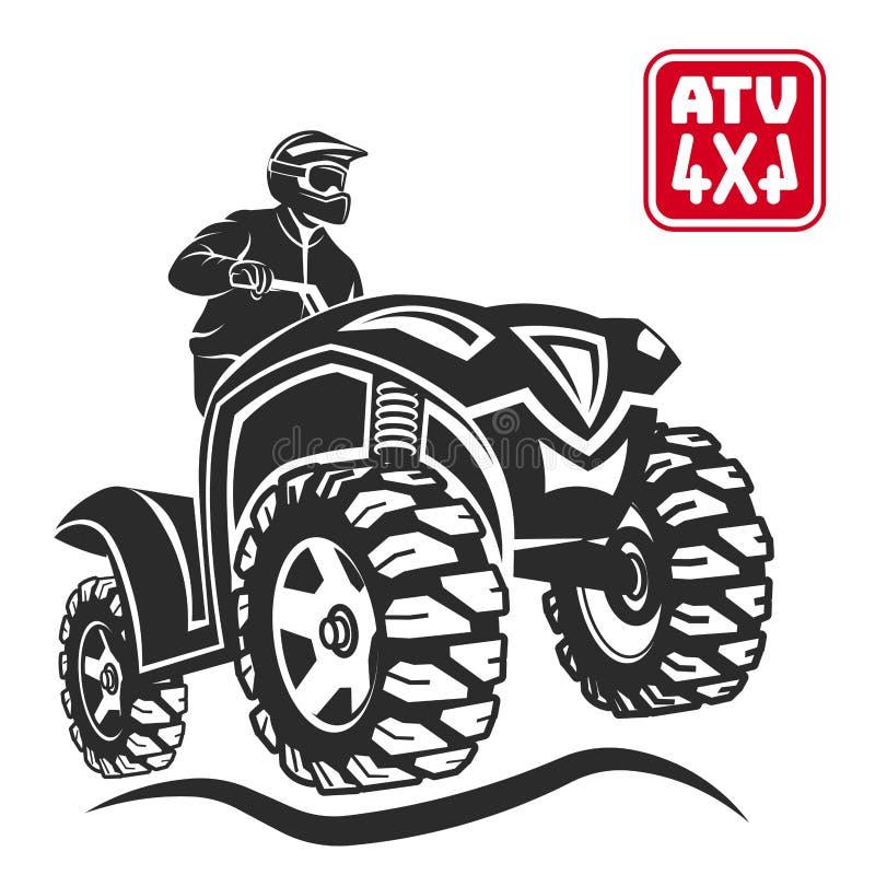 Elementos fora de estrada do projeto do veículo todo-terreno de ATV ilustração do vetor