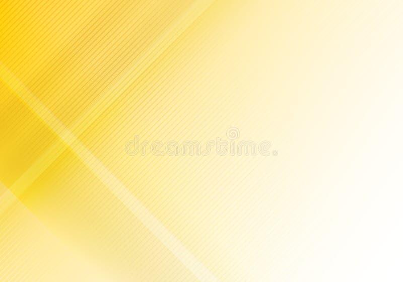 Elementos geométricos amarillos del brillo y de la capa del extracto con las líneas diagonales textura ilustración del vector