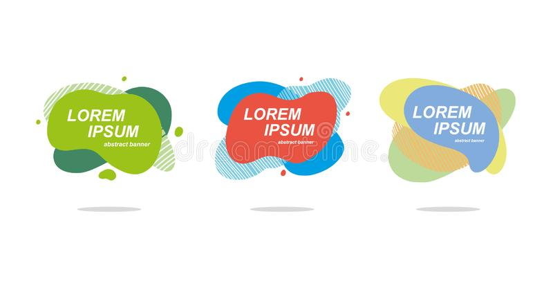 Elementos gráficos modernos abstractos Sistema del vector Diseño artístico de las cubiertas libre illustration