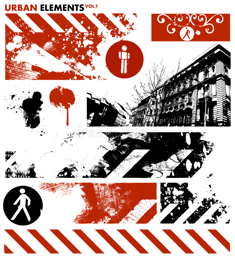 Elementos gráficos urbanos 1/vetor ilustração royalty free