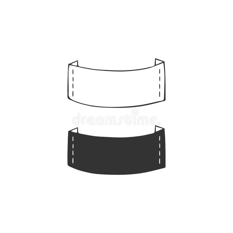 Elementos hechos a mano del logotipo del vector, sistema de rayas Ejemplo aislado dibujado mano libre illustration