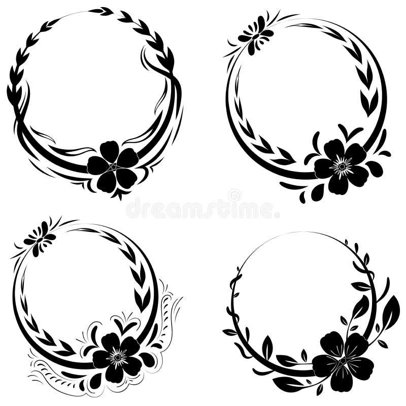 Elementos hermosos del ornamento floral ilustración del vector