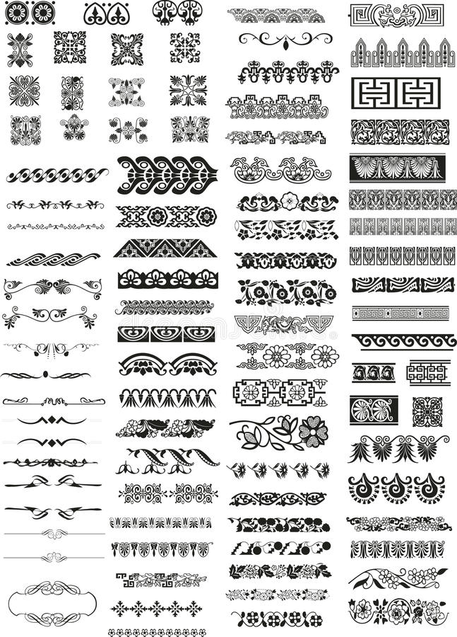 Elementos horizontais do projeto ilustração royalty free