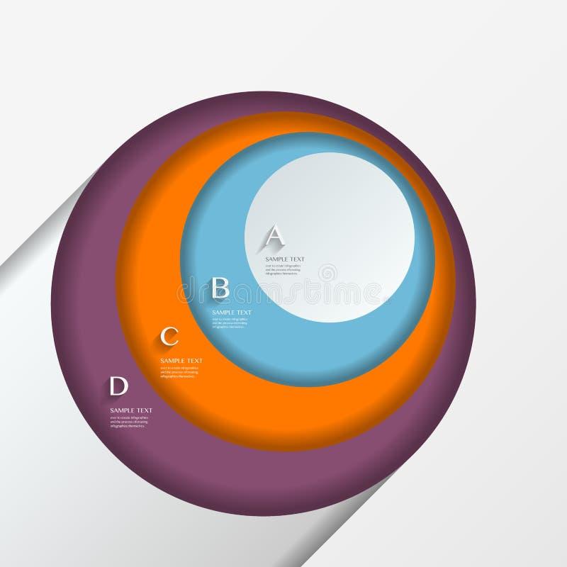 Elementos infographic abstratos modernos foto de stock