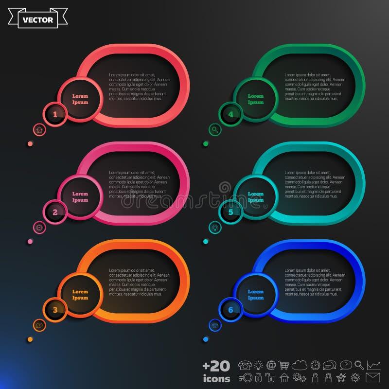 Elementos infographic da bolha do discurso do vetor fotografia de stock royalty free