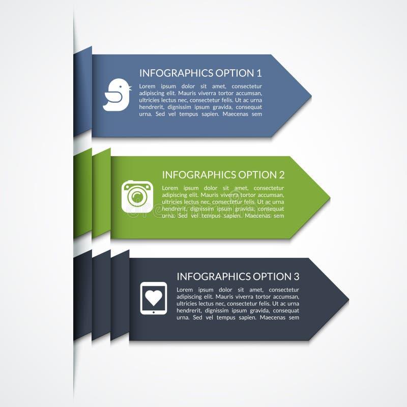 Elementos infographic de la flecha moderna stock de ilustración