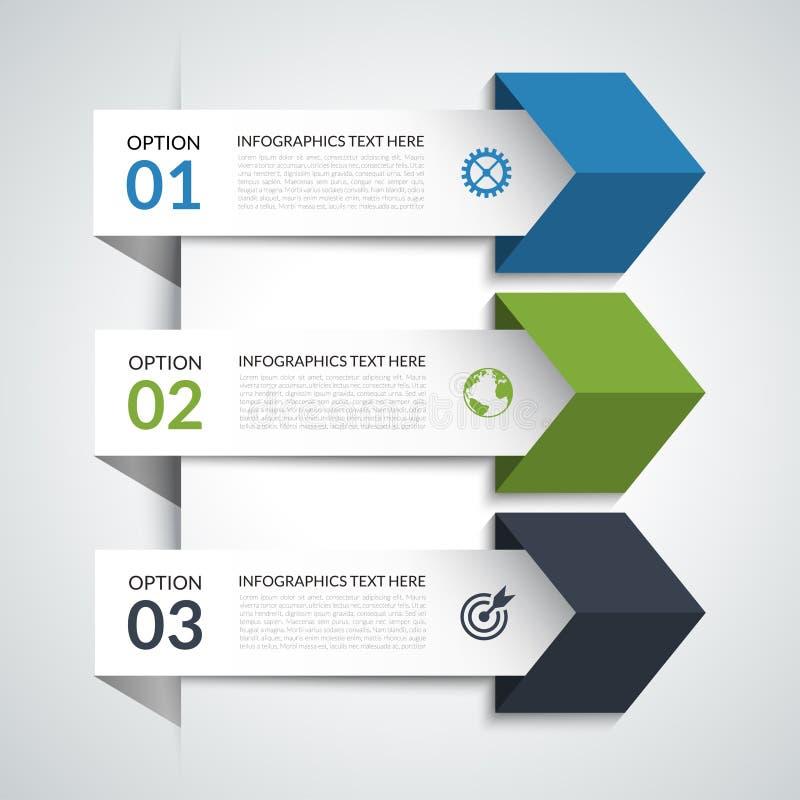 Elementos infographic de la flecha moderna libre illustration