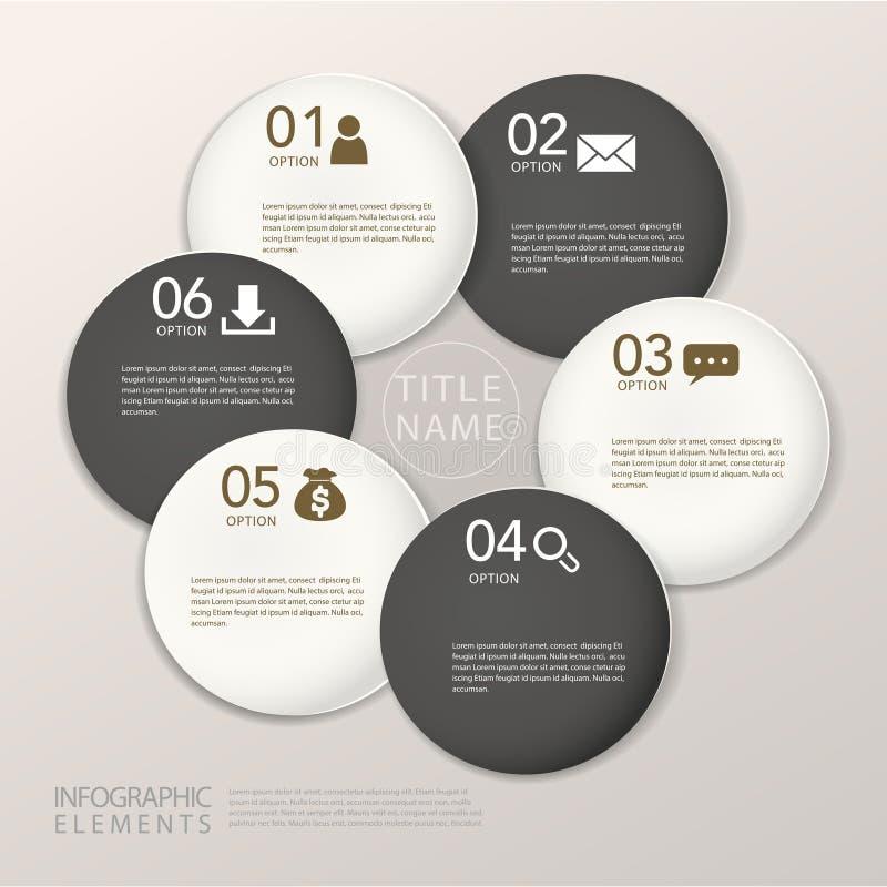 Elementos infographic del círculo de papel abstracto moderno ilustración del vector