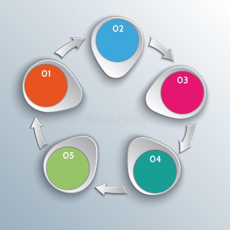 Elementos infographic del diseño del flujo de trabajo del vector con libre illustration