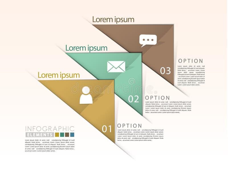 Elementos infographic del flujo geométrico abstracto de la flecha ilustración del vector