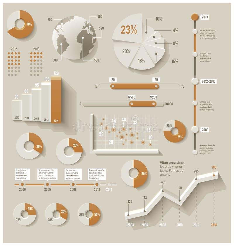 Elementos infographic del vector ilustración del vector