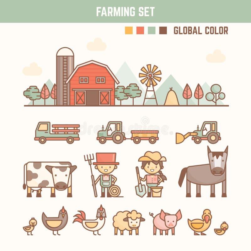 Elementos infographic do cultivo e da agricultura para a criança