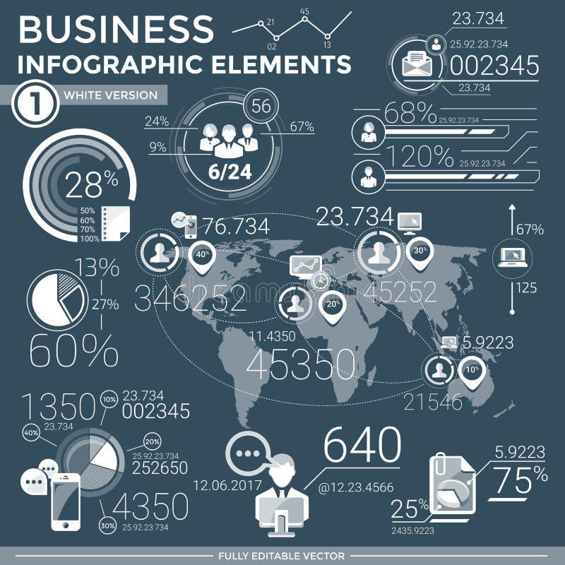 Elementos infographic do negócio ilustração royalty free