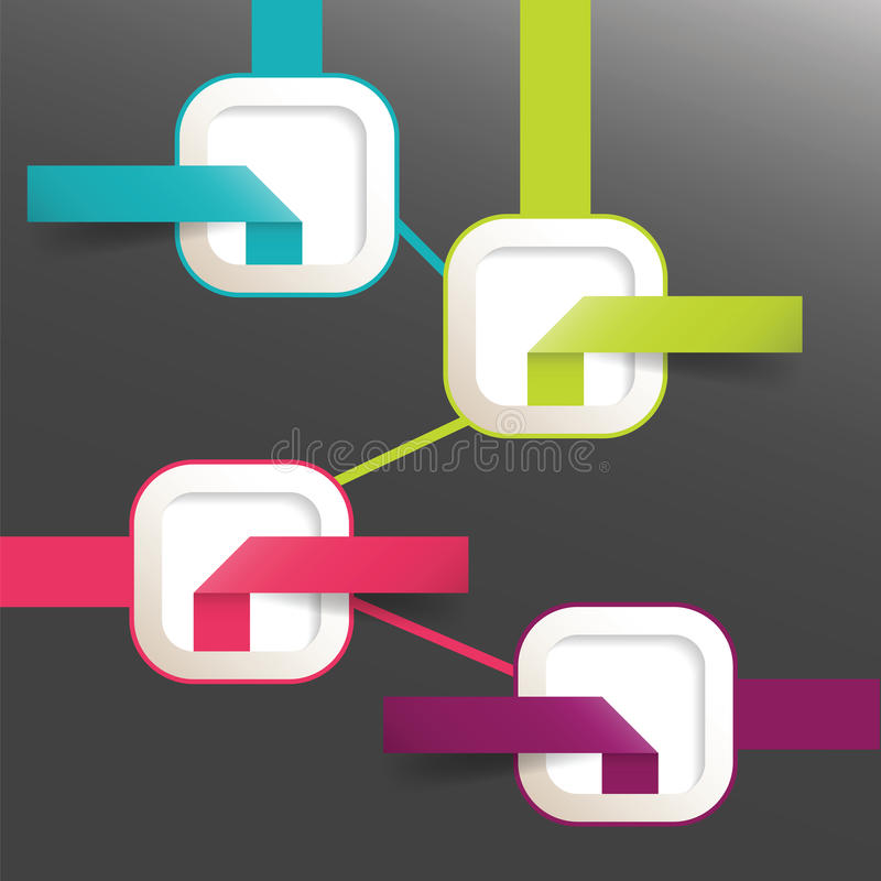 Elementos infographic modernos do papel de fluxograma do vetor ilustração royalty free