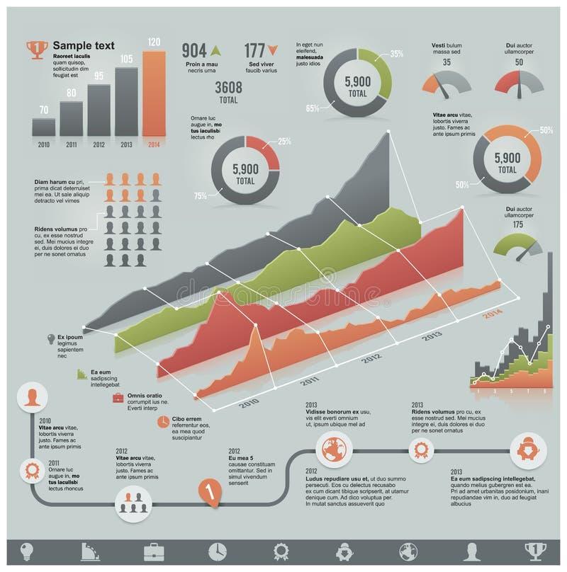 Elementos infographic relacionados con el mercado del vector libre illustration