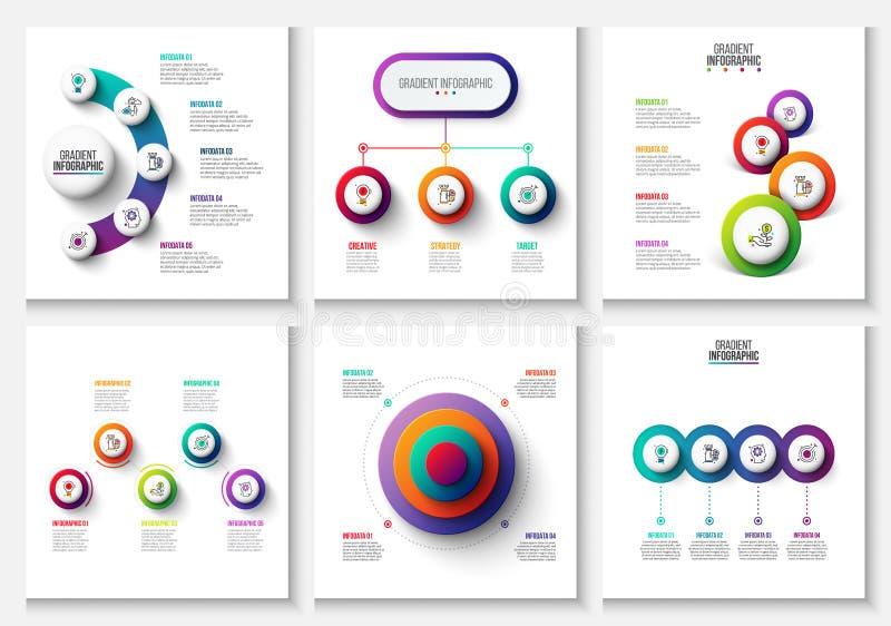 Elementos infographic y de comercializaciones de la pendiente del vector Puede ser utilizado para la presentación, diagramas, inf libre illustration