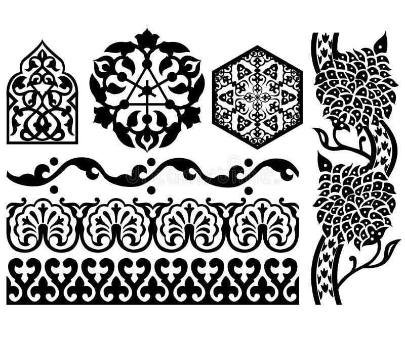 Elementos islâmicos do projeto ilustração stock