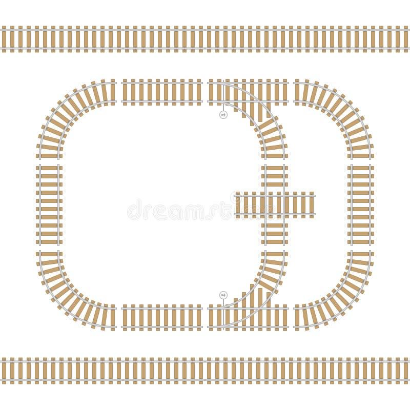 Elementos isolados estrada de ferro ilustração stock